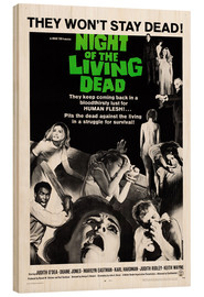 Wood print  Night of the Living Dead