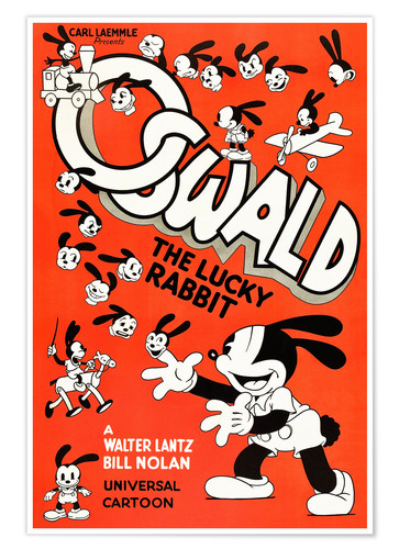 Premium poster Oswald the Lucky Rabbit