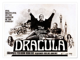 Premium poster The Satanic Rites of Dracula