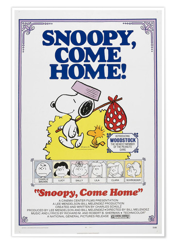 Premium poster Snoopy, Come Home!