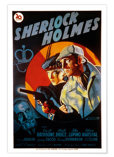 Premium poster The Adventures of Sherlock Holmes