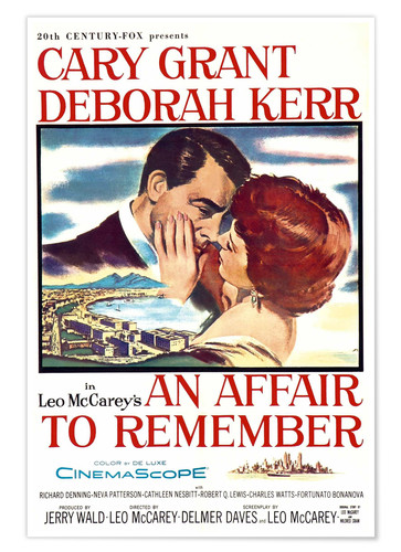 Premium poster AN AFFAIR TO REMEMBER, Cary Grant, Deborah Kerr, 1957