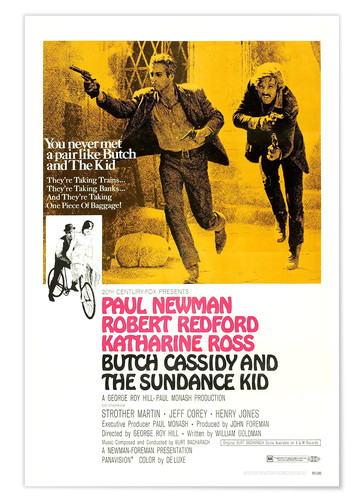 Premium poster BUTCH CASSIDY AND THE SUNDANCE KID