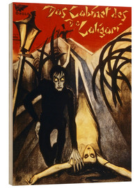 Wood print  The Cabinet of Dr. Caligari