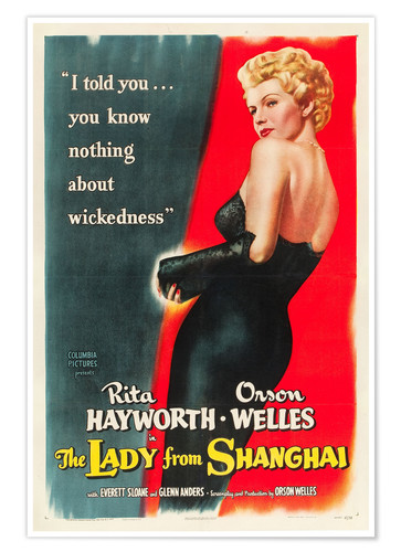 Premium poster THE LADY FROM SHANGHAI, Rita Hayworth, 1947