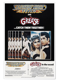 Premium poster Saturday Night Fever / Grease