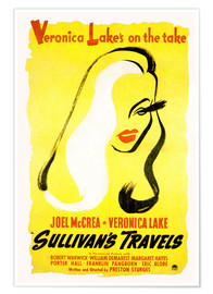 Premium poster Sullivans Travels, Veronica Lake, (poster art) 1941