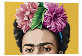 Foam board print  Frida - Claudio Limón