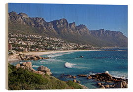 Wood print  Camps Bay, Cape Town, South Africa - wiw