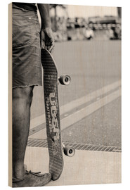 Wood print  Skateboard freedom II - Christian Seidenberg