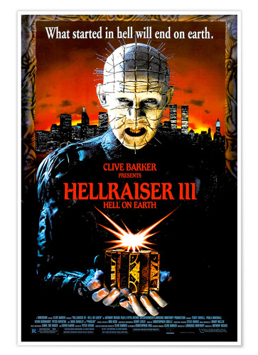 Premium poster Hellraiser III: Hell on Earth