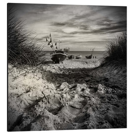 Aluminium print  Fishing boats on Ruegen island - Mario Benz