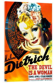 Acrylic glass  THE DEVIL IS A WOMAN, Marlene Dietrich, 1935 Poster Art