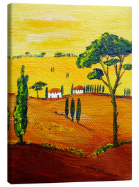 Canvas print  Tuscany landscape 1 - Christine Huwer