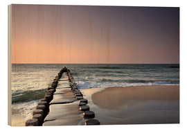Wood print  Sunset at the Baltic Sea - Filtergrafia