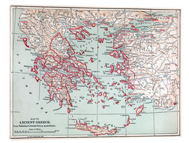Acrylic print  Map of Ancient Greece