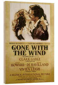 Wood print  Gone With The Wind - Margaret Mitchell