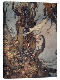 Canvas print  Andersen: Little Mermaid - Edmund Dulac