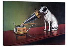 Canvas  Victor gramophone Advertising
