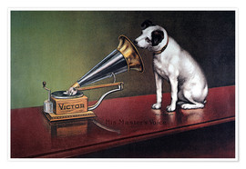 Poster  Victor gramophone Advertising