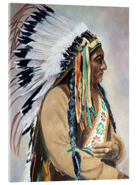 Acrylic glass  Sitting Bull