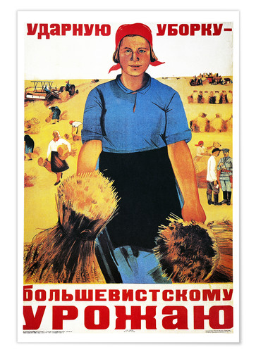 Premium poster Russia's agricultural collective farm