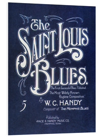 Foam board print  Handy: 'st. Louis Blues', 1914.