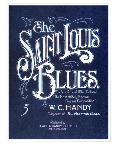 Premium poster Handy: 'st. Louis Blues', 1914.