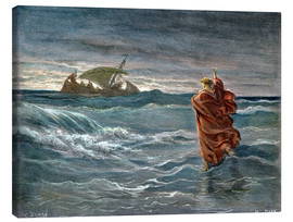 Canvas  Jesus Walk On Water - Gustave Doré