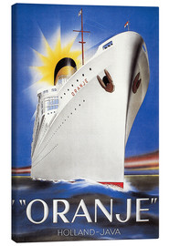 Canvas print  Dutch Travel Poster, 1939. - Jean Walther