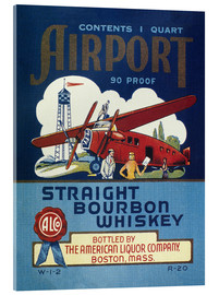 Acrylic print  Airport Whiskey Label