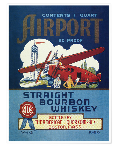 Premium poster Airport Whiskey Label