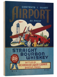 Wood print  Airport Whiskey Label