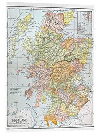 Acrylic print  Map of Scotland