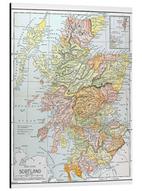 Aluminium print  Map of Scotland