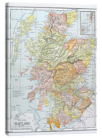Canvas  Map: Scotland