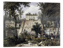 Foam board print  Mexico: Tulum, 1844. - Frederick Catherwood