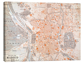 Canvas print  Madrid around 1920