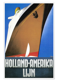 Premium poster  Holland-Amerika - Wim ten Broek