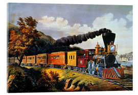 Acrylic glass  American Express Train. - N. & J.M. Currier & Ives