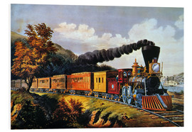 Foam board print  American Express Train. - N. & J.M. Currier & Ives