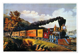 Premium poster  American Express Train. - N. & J.M. Currier & Ives