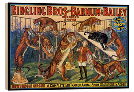 Wood print  Circus poster from 1920