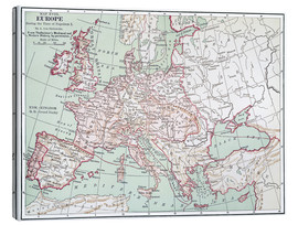 Canvas print  Map of Europe from 1812 (English)