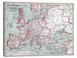Canvas print  Map of Europe, 12th century