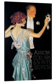 Aluminium print  Arrow Collars - Joseph Christian Leyendecker