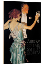 Wood print  Arrow Collars - Joseph Christian Leyendecker