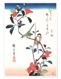 Premium poster  Flowers and Birds - Utagawa Hiroshige