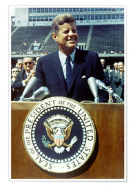 Premium poster President Kennedy at Rice University