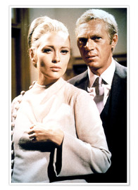 Poster  THE THOMAS CROWN AFFAIR, Faye Dunaway, Steve McQueen